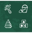 chalk icons set Isolated chalkboard vector image vector image