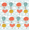 childish cute seamless pattern with hot air vector image vector image