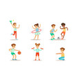 children doing different kind sports set teen vector image vector image