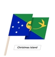 Christmas Island Ribbon Waving Flag Isolated on vector image vector image