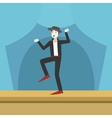 Clown Performing Pamtomime On Stage vector image vector image