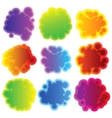 Collection of colorful speech bubbles EPS 8 vector image vector image