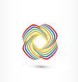 colorful abstract swooshes symbol vector image vector image