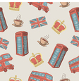 colorful seamless pattern of hand-drawn London vector image vector image