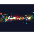 Colourfull bokeh background vector image vector image