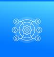 cost efficiency icon vector image