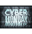 Cyber Monday Sale glitch art typographic poster vector image vector image