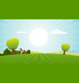 dairy cow in summer landscape vector image