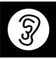 ear icon design vector image