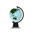 earth globe asia continent design vector image