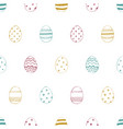 easter seamless pattern with ornate eggs vector image