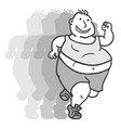 fat speed vector image