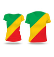 Flag shirt design of Republic of Congo vector image vector image