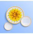 flower background Eps10 vector image vector image