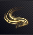 golden wave with sparkle bokeh abstract light vector image vector image