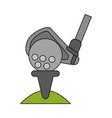 golf related icon image vector image vector image