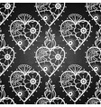 graphic hearts with floral decorations vector image