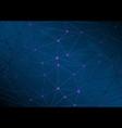 high-tech polygonal network connectivity abstract vector image vector image