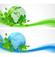 Horizontal banners with planet Earth vector image