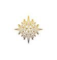 logotype star sun isotherism symbol magic vector image