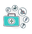 medical supplies icon vector image vector image