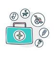 medical supplies icon vector image