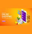 online shopping order delivery service internet vector image vector image