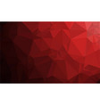 polygon red gradient background vector image vector image