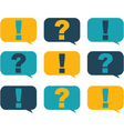 Question and surprise vector image vector image