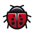 Red spotted ladybird or ladybug vector image vector image