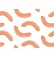 Sausages seamless pattern flat style