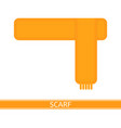 scarf isolated on white vector image