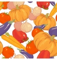 Seamless background with autumn vegetables vector image