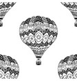seamless pattern of hot air balloon vector image vector image