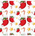 seamless pattern tile cartoon with christmas theme vector image