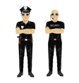 security and police guards with arms folded vector image