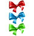 Set bow in different color vector image vector image