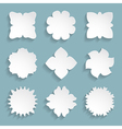 set of 9 white frames vector image vector image