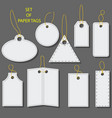 set of blank white paper tags labels stickers vector image