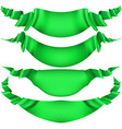 set of horizontal green banners eps 10 vector image