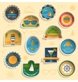 Summer vacation emblems stickers set vector image vector image