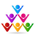 team of people in a pyramid icon vector image vector image