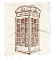 telephone cabin vector image