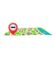 the bus stop sign on the city map vector image