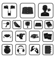 translator and linguist black icons in set vector image vector image