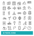 Travel and Tourism set web icons vector image vector image