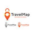 travel map logo design vector image vector image