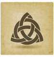 triquetra in circle old background vector image vector image