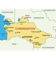 Turkmenistan - map vector image vector image