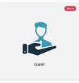 two color client icon from technology concept vector image vector image
